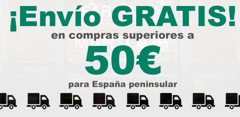 Envío Gratis a partir de 50€ en España Peninsular